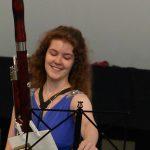 Solistin Lisanne Traub (Fagott)